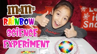 M&M's Rainbow Experiment | Easy Science Experiment