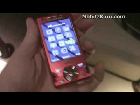 Live Sony Ericsson W995 Walkman demo