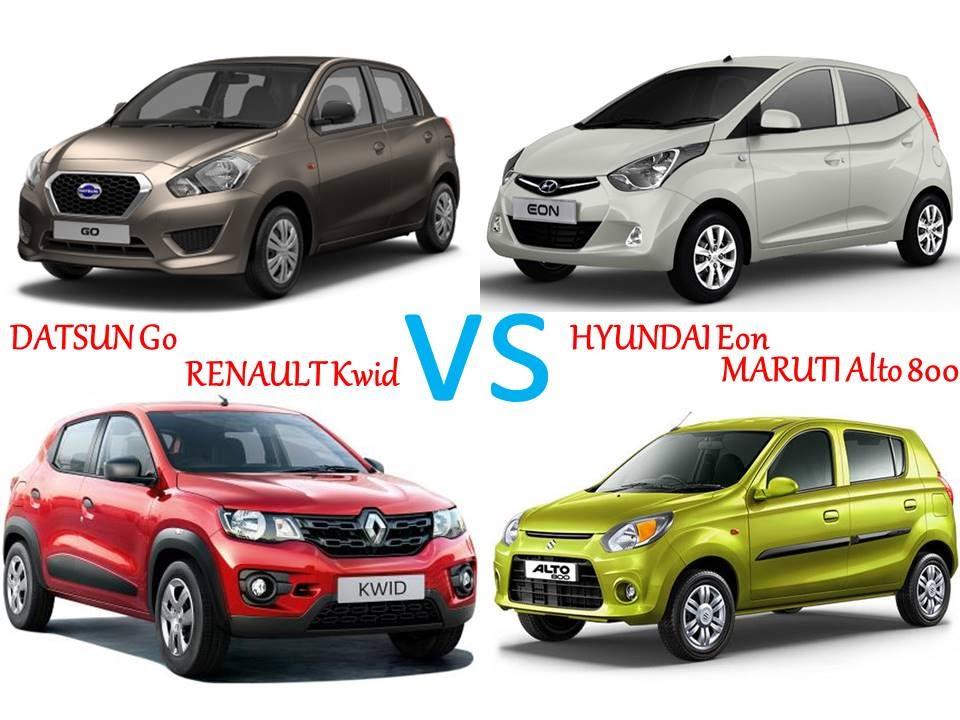 Datsun Go Vs Hyundai Eon Vs Renault Kwid Vs Maruti Alto 800 Youtube