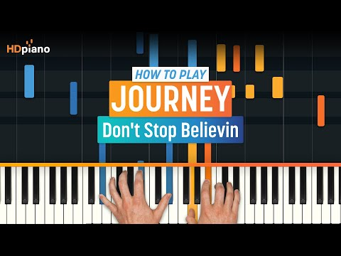 "How to Play ""Don't Stop Believing"" by Journey with Synthesia & HDpiano - Piano Tutorial"
