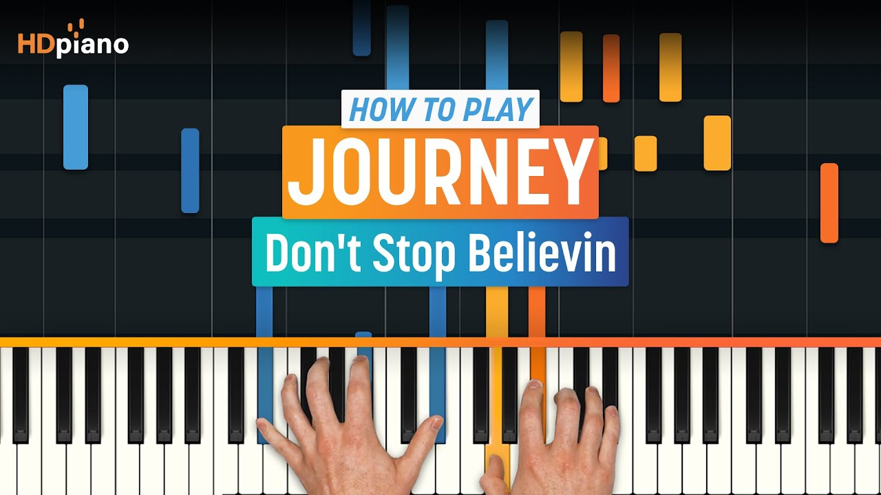 Dont stop believing piano sheet music pdf