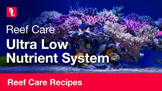 Ultra low nutrient system | Reef care recipe