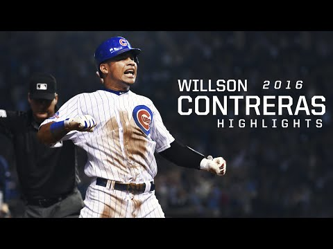 MLB Willson Contreras Rookie 2016 Highlights - Chicago Cubs