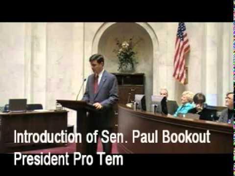 Sen. Robert Thompson Introduces the President Pro Tem