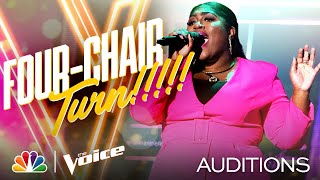 "Tamara Jade Performs Lizzo's ""Cuz I Love You"" and Gets a Four-Chair Turn - The Voice Blind Auditions"