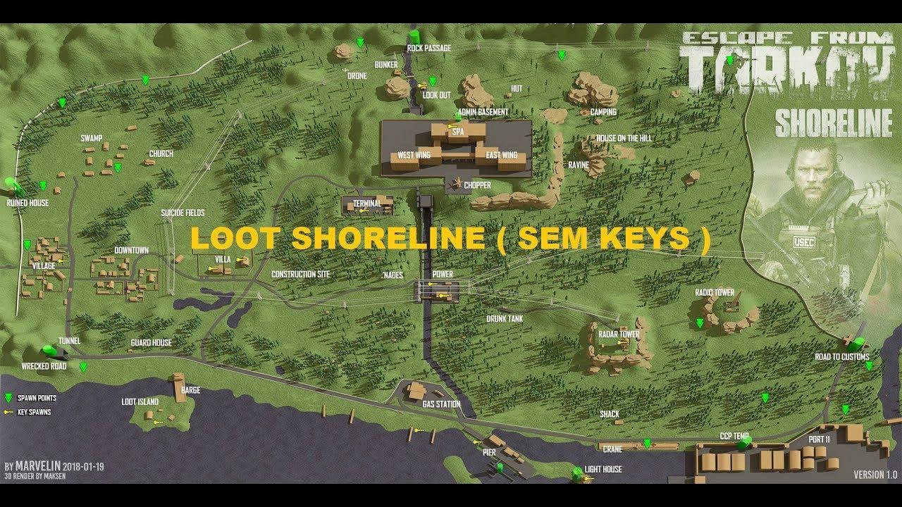 Shoreline Loot Guide (Scav or PMC) Not Keys - [PT-BR] - Escape from Tarkov