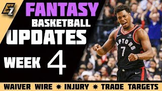 Week 4 Fantasy Basketball Updates/Trade Targets/Waiver Wire Pickups 2018-2019