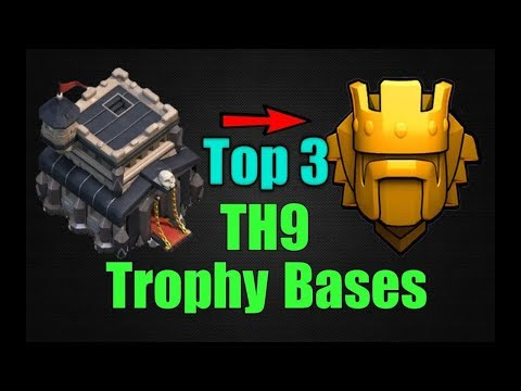 TOP 3 Best TH9 Trophy Base 2018 | Town Hall 9 Trophy Pushing Base To LEGEND League | Clash Of Clans