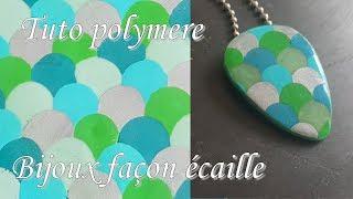 [♥✿ Tuto Fimo : bijoux écailles ✿♥] ~ [♥✿ Polymer Clay Tutorial : jewelry scales ✿♥]