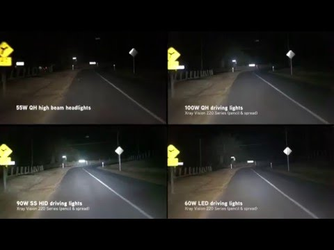 Xray Vision Quartz Halogen Vs Hid Vs Led Driving Lights