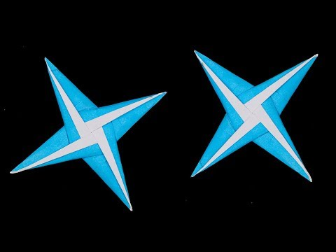 Easy origami ninja star 4 points