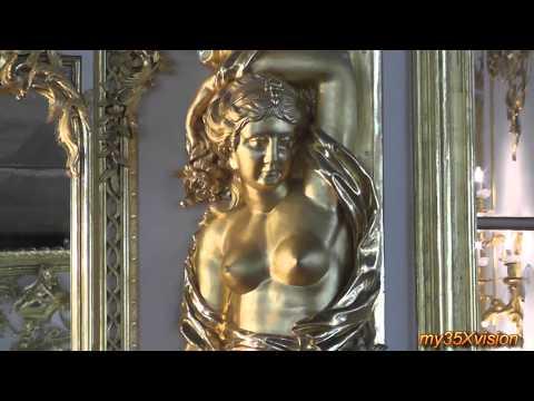 Travel Video: Sankt Peterburg Russia Pushkin Catherine Palace Amber Room in HD