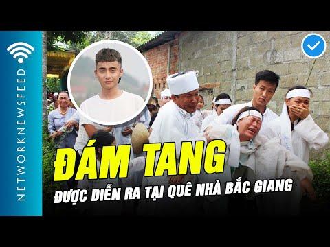Hình ảnh tang lễ của YouTuber Nam Ok ở quê nhà Bắc Giang