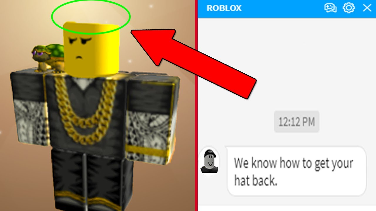 Roblox Messaged Me To Get My Deleted Hat Back Youtube