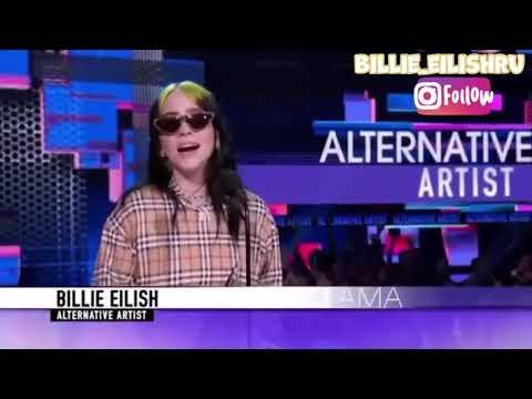 Билли Айлиш благодарит фанатов за награду на American Music Awards 2019 [русская озвучка]
