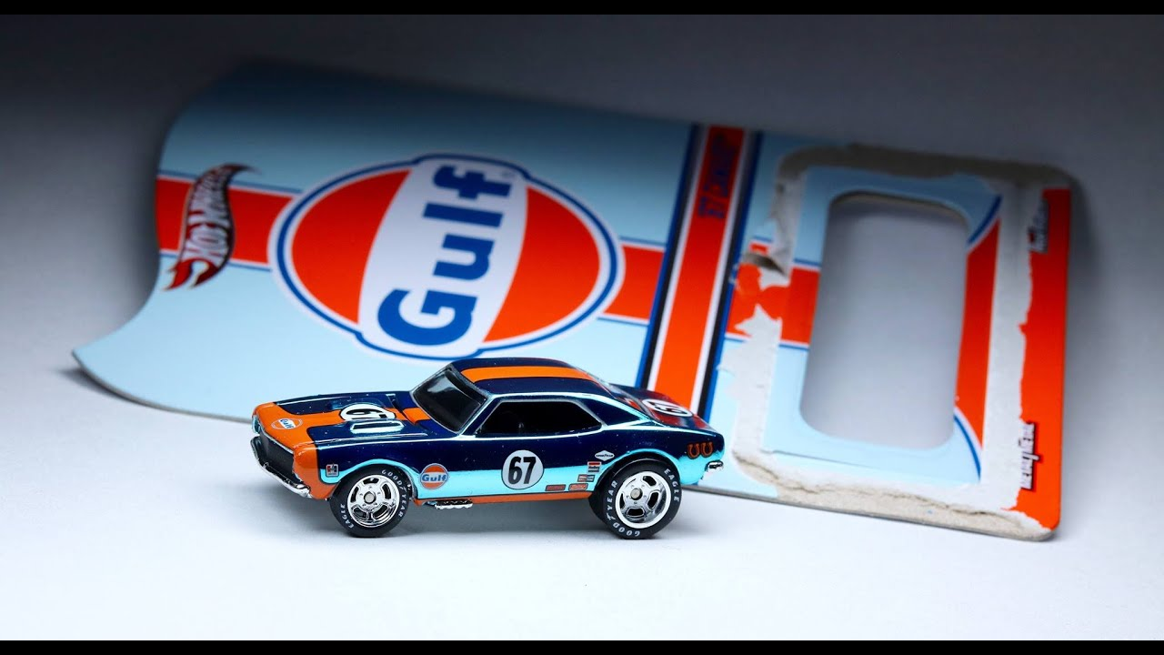 Hot Wheels Rlc Gulf Racing 67 Camaro Unpackaging Youtube