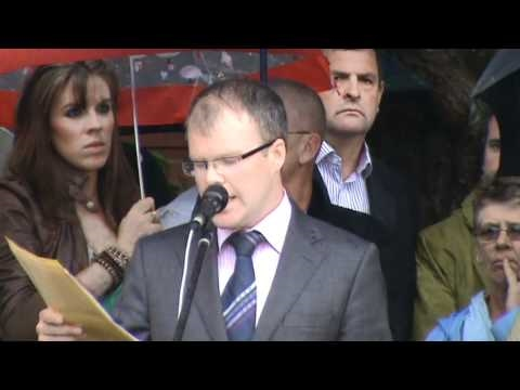 Navan Hospital Protest 2010 - Cllr. Peadar Tóibín