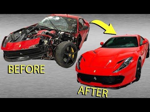 Rebuilding WRECKED Ferrari 812 In 10 MINUTES!! (VIDEO #66)