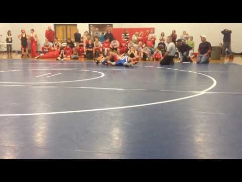 Houston Crouch 2013 Harpeth Middle School Wrestling vs Charlotte