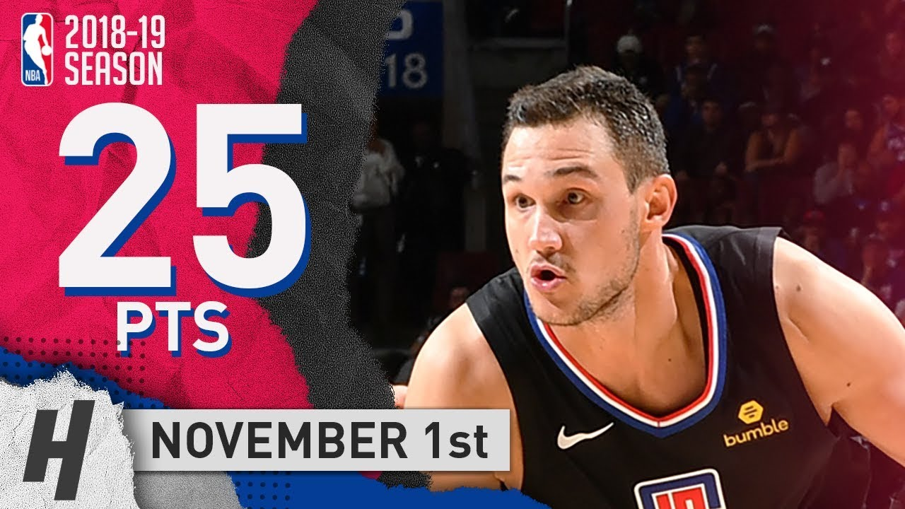 c90af44daa00 Danilo Gallinari Full Highlights Clippers vs 76ers 2018.11.01 - 25 ...