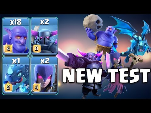 New Test! 2 Pekka 18 Bowler 2 Witch 1 Electro Dragon Destroy TH12 War Base |  Clash Of Clans