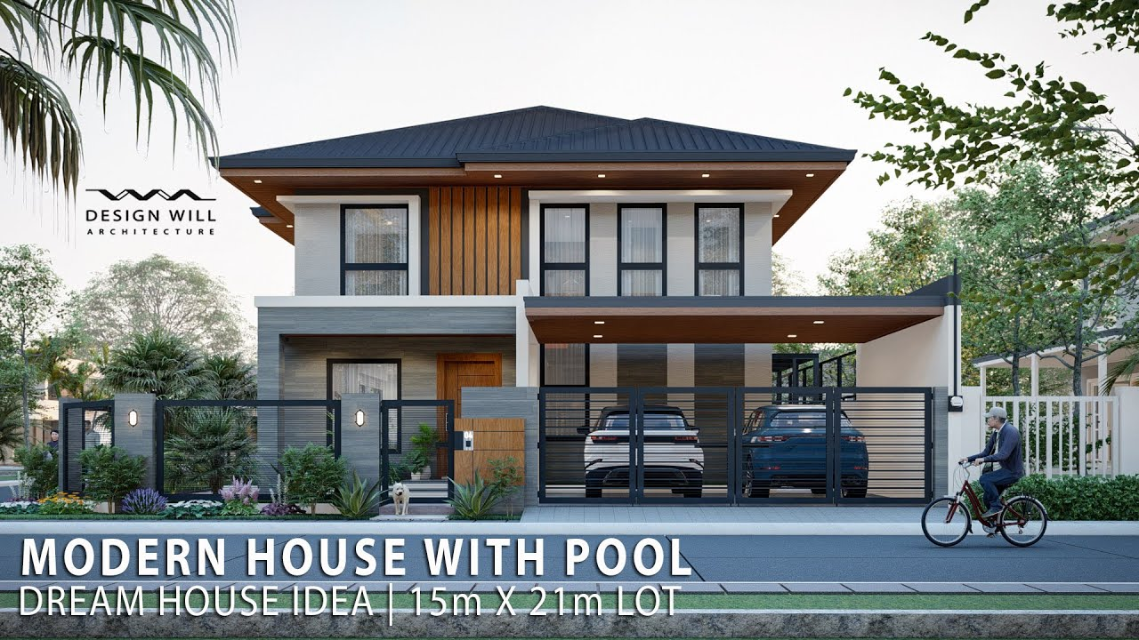 Download D06 | Dream House Idea | 15m x 21m Lot Modern House Design with Pool