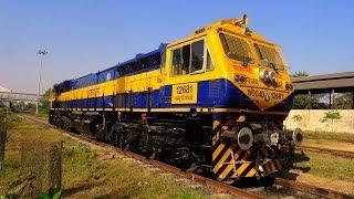 "Brand New Locomotive of Indian Railways ""WDG4D VIJAY"" First Run !"