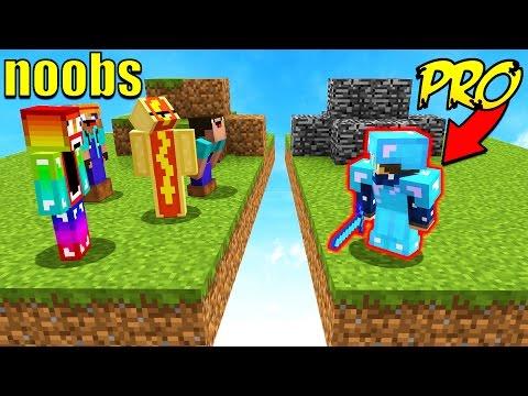 8 NOOBS VS 1 PROFESSIONAL! (Minecraft BED WARS)