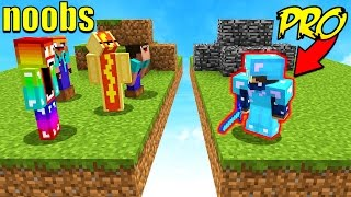 8 NOOBS VS 1 PROFESSIONAL! (Minecraft BED WARS)