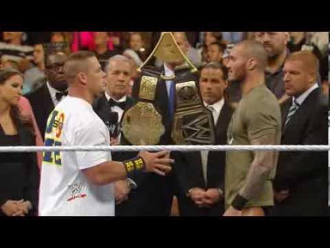 John Cena vs Randy Orton BIG FIGHT in WWE RAW