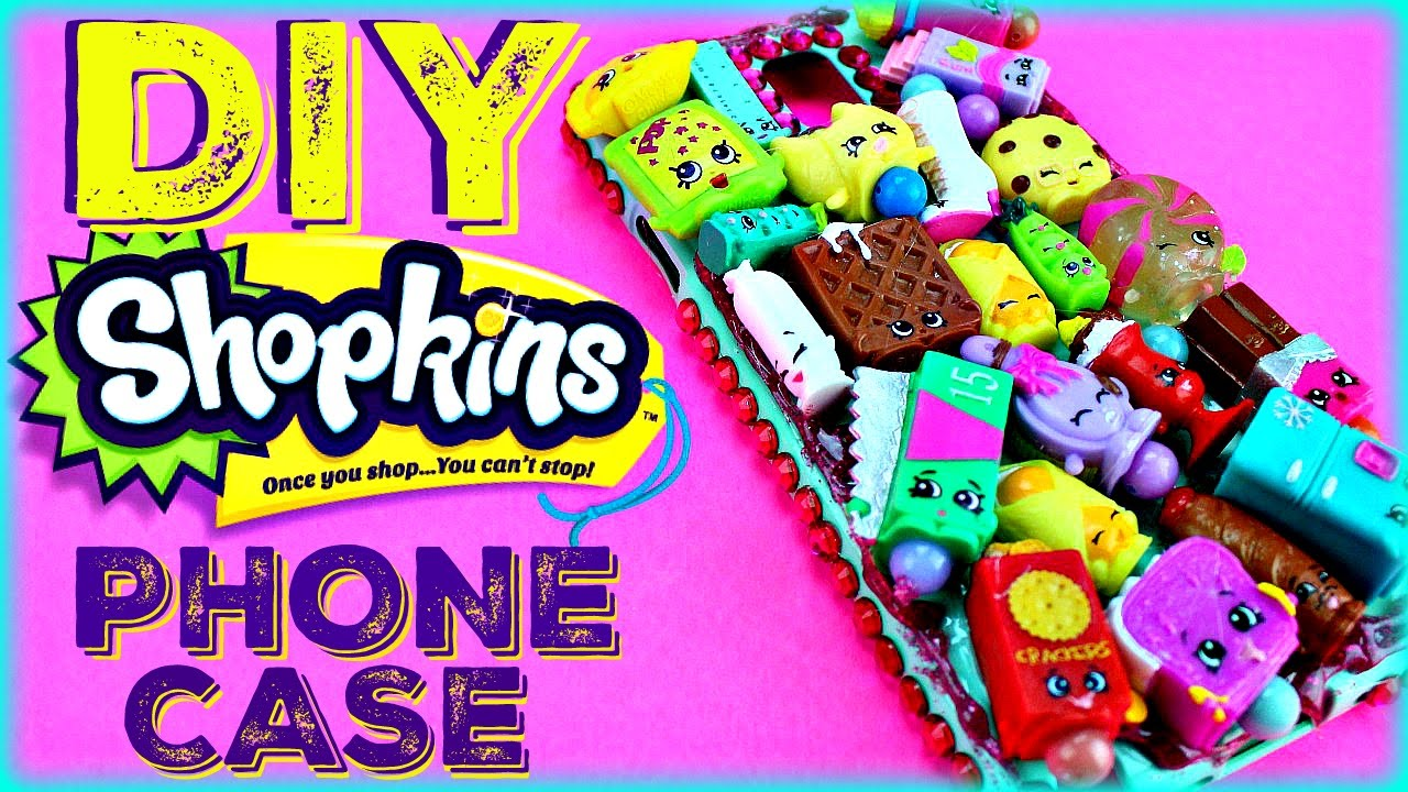 DIY SHOPKINS PHONE CASE ! Fun activity for the whole Family - YouTube
