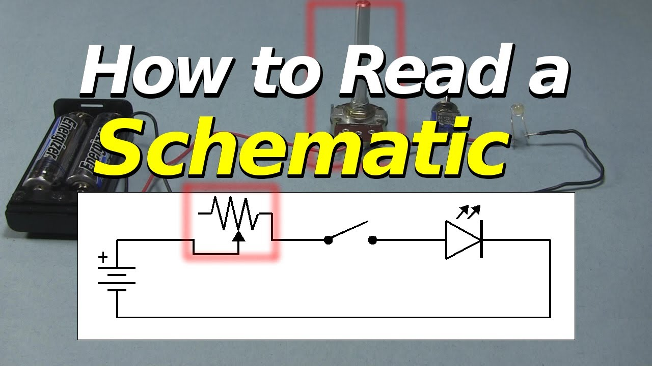 How to Read a Schematic - YouTube on technical drawing, electronic design automation, piping and instrumentation diagram, schematic editor, data flow diagram, diagramming software, circuit diagram, function block diagram, block diagram, functional flow block diagram, tube map, straight-line diagram, ladder logic, one-line diagram, control flow diagram, schematic capture,