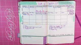 bullet journal planner april weekly and daily