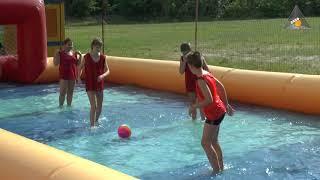 Лесной детский лагерь Брусино - водный футбол