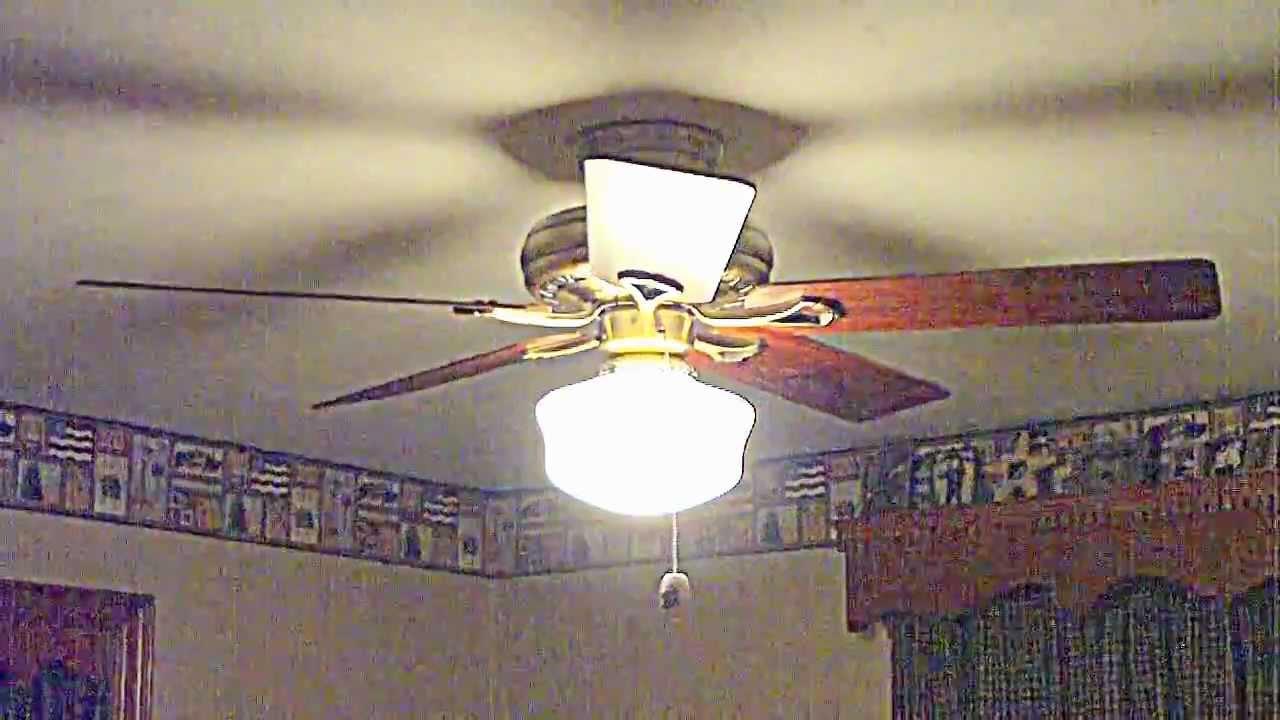 52 antique brass hunter savoy ceiling fan youtube aloadofball Choice Image