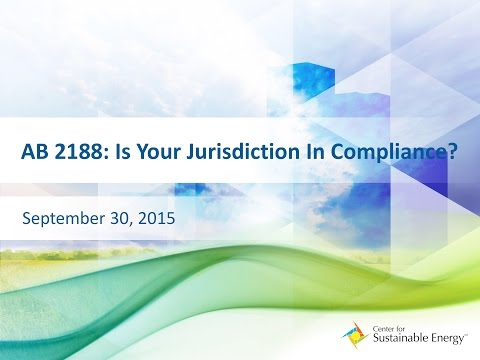 WEBINAR: AB 2188: Is Your Jurisdiction in Compliance?