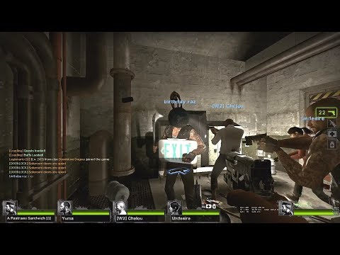 Left 4 Dead 2 - MGFTW COOP 16 Players: Happy Birthday Raz! -