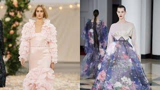 Объемные рукава трикотаж и кожа модные платья на весну 2021