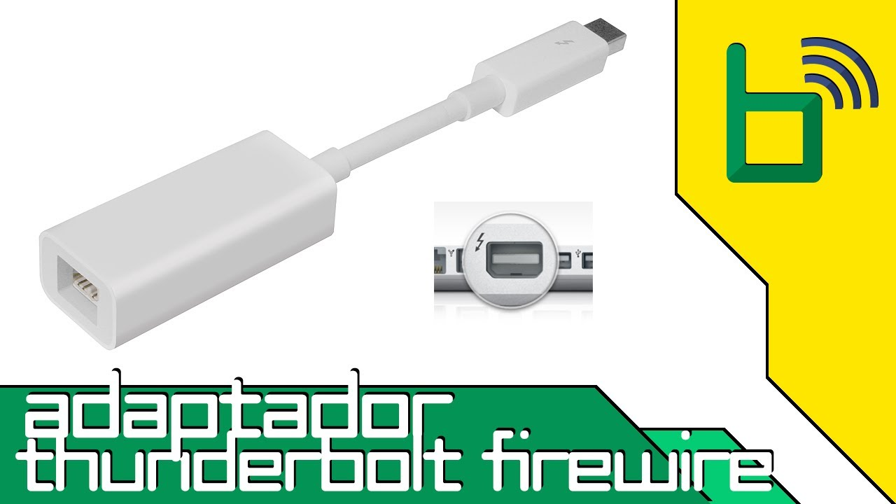 Adaptador de Thunderbolt para Firewire da Apple - YouTube
