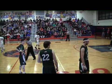 Danny Wilson #23 Locust Valley HS vs Southside Nassau County Basketball Playoffs Feb 2016-1