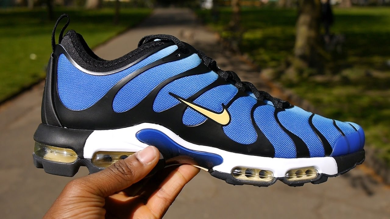 blue yellow mens nike air max tn ultra shoes. Black Bedroom Furniture Sets. Home Design Ideas