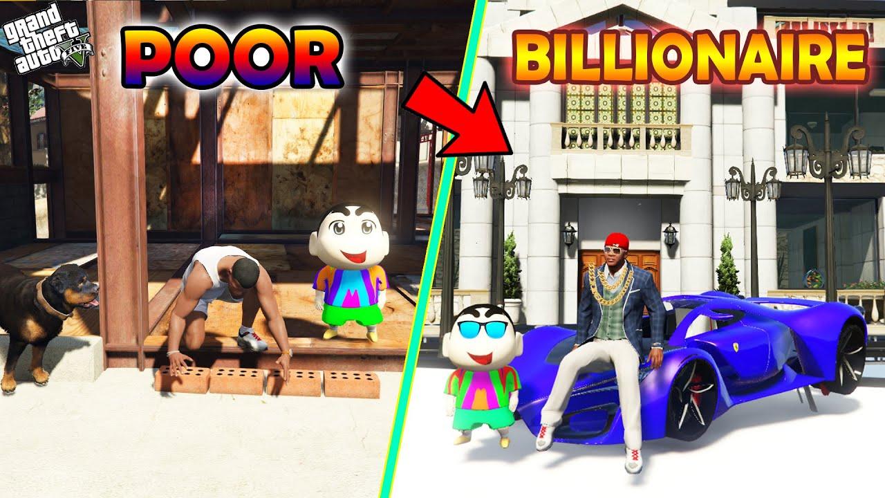 GTA 5 : Shinchan , Pinchan And Franklin Become Richest Person in GTA 5 ! (GTA 5 mods)