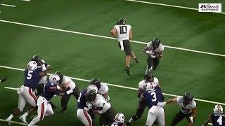 Oregon offensive line vs Auburn (2019)
