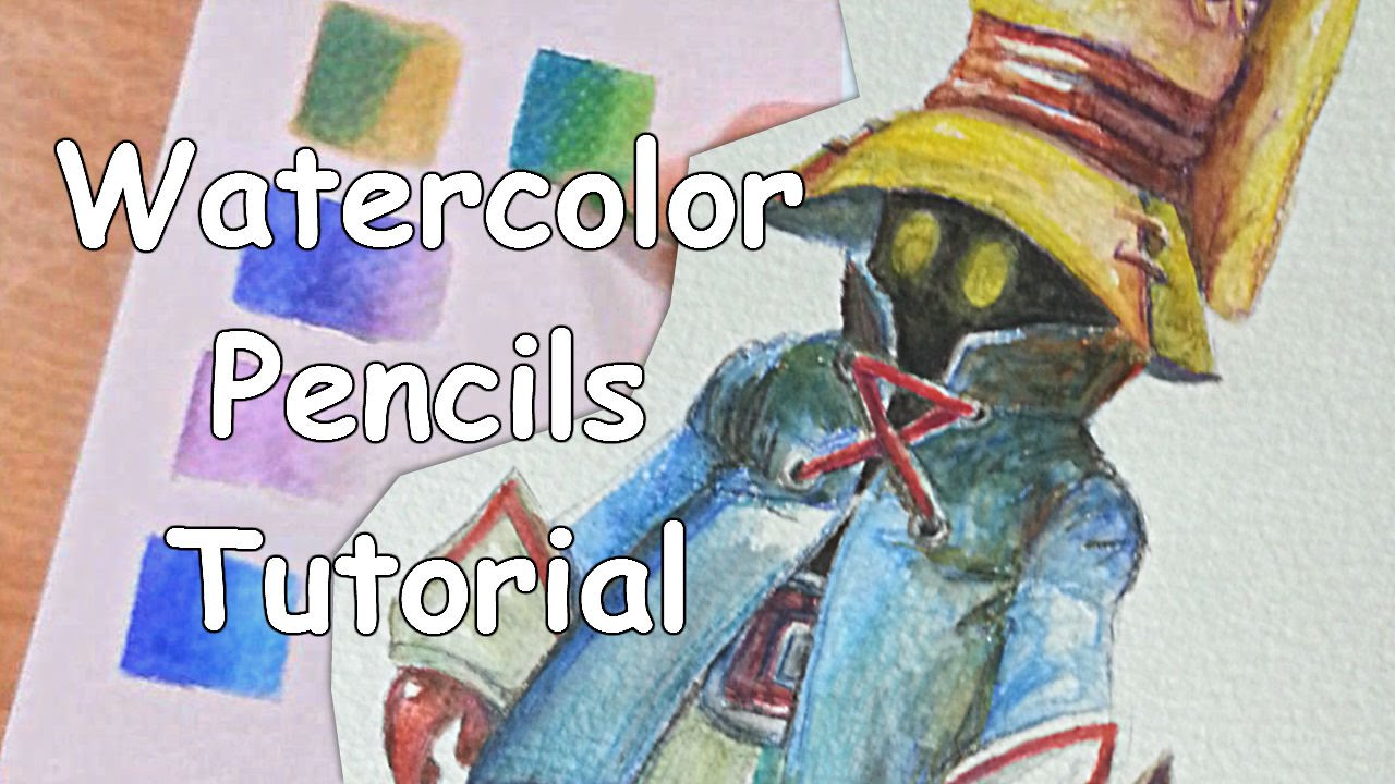 Drawing tutorial how to use watercolor pencils for beginners