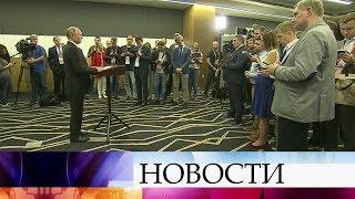 Владимир Путин на пресс-конференции подвел итоги своего трехдневного визита в Сингапур.