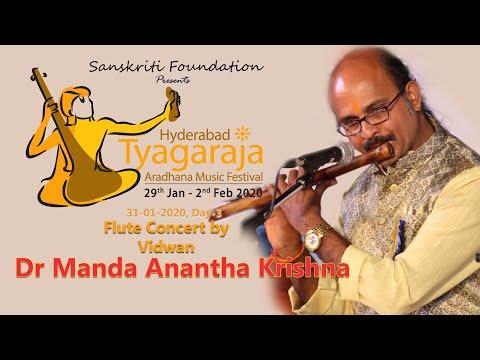 Dr. Manda Anantha Krishna #FluteRecital    Hyderabad Tyagaraja Aradhana Music Festival    HTAMF 2020