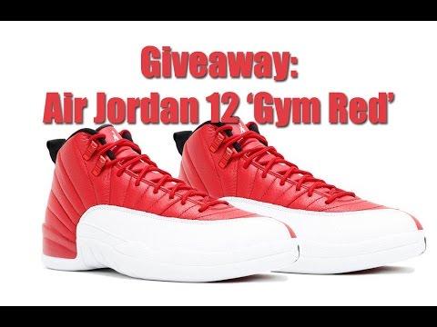 03a2137a7b77e3 GIVEAWAY  Air Jordan 12 Gym Red - YouTube
