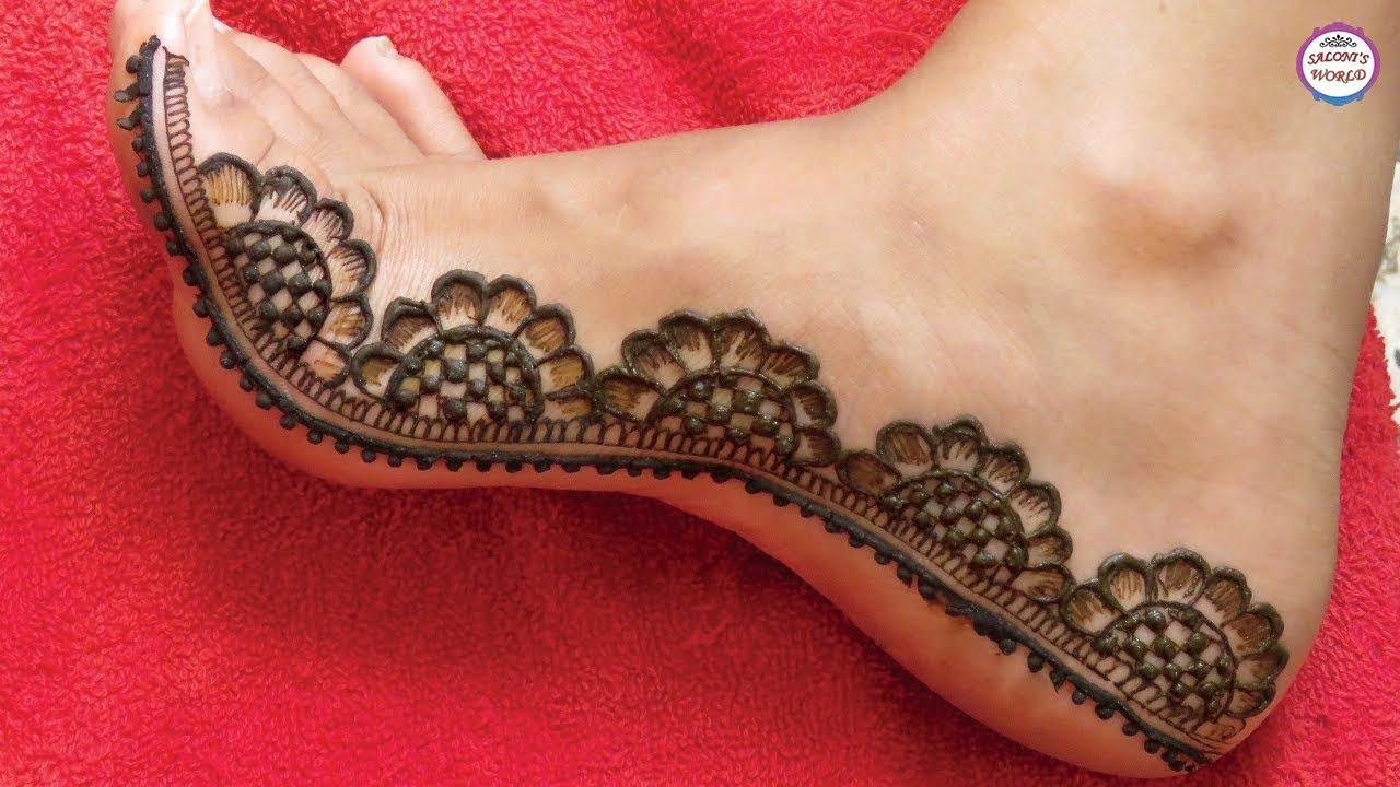 mehandi design on legs simple