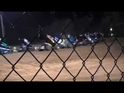 I-30 speedway April 4, 2015 Sprint Car flip on feature start.