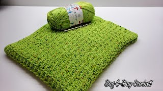 How to crochet a baby blanket | lil dreamers crochet blanket | BAG O DAY CROCHET TUTORIAL #596